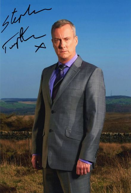 Stephen Tompkinson, signed 12x8 inch photo.